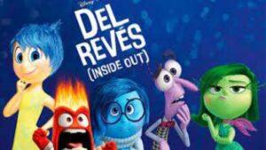 cartel de los personajes de la pelicula de animacion del reves