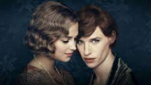 Los protagonistas de la película La chica danesa, los actores Eddie Redmayne y Alicia Vikander.
