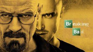 cartel de los dos protagonistas de la serie de televisión Breaking Bad mirando a cámara en actitud desafiante
