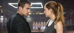 Cuatro y Beatriz, los protagonistas de la película Divergente.