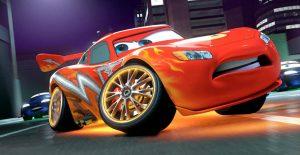 Coche rojo, protagonista de la película Cars.